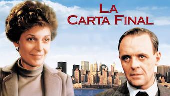 La carta final (1986)